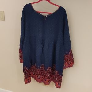 Plus 3xl size Bohemian-chic  tunic dress
